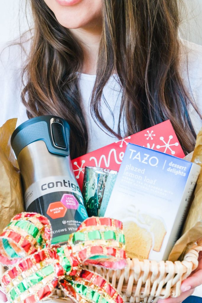 holiday gift basket with Contigo + Tazo at Target