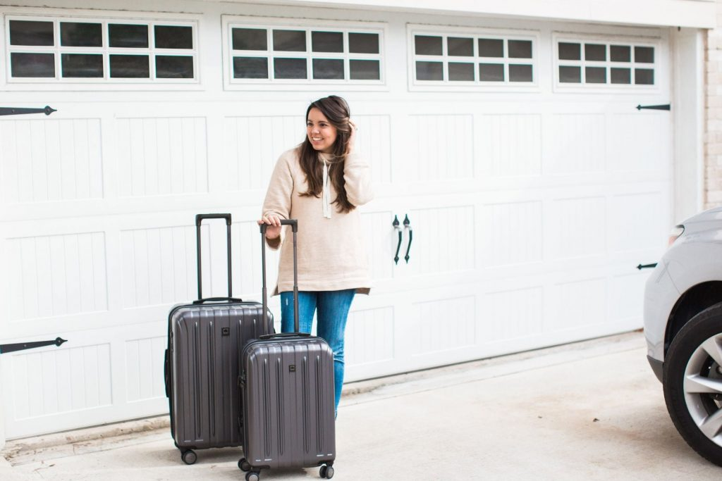 Delsey Titanium spinner suitcases, best luggage for travel