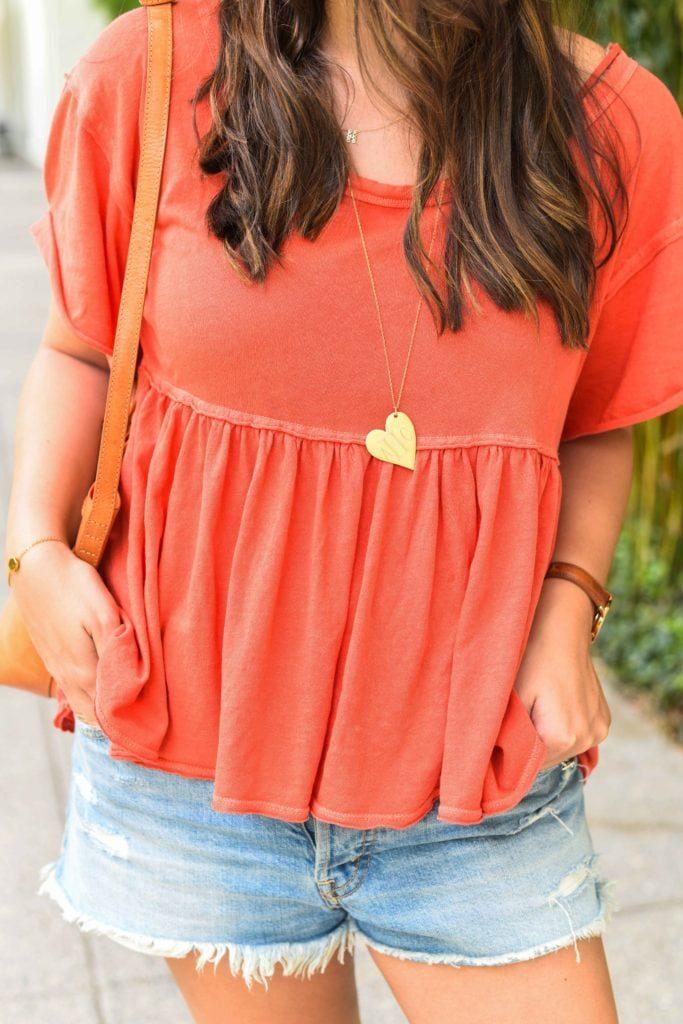 Golden Thread heart necklace, Engagement gift idea