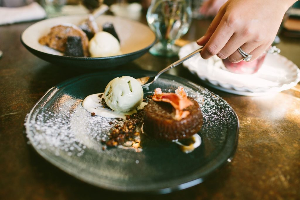 Farm-to-table desserts, Pippin Hill Farm and Vineyards, Charlottesville wineries
