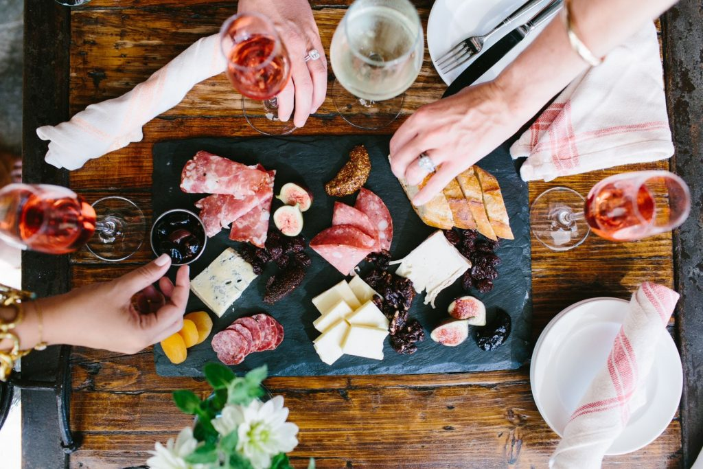 Charcuterie board, Pippin Hill Farm and Vineyards