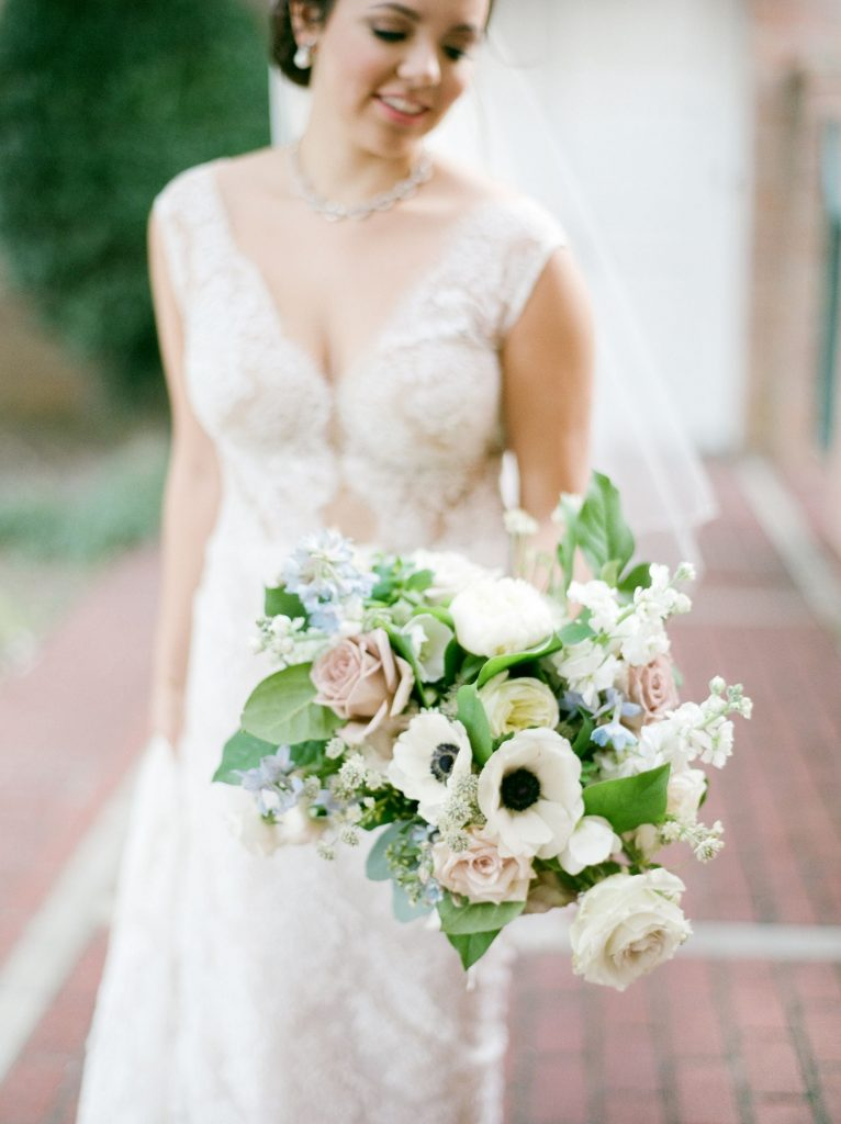 wedding bouquet ideas, anemones bouquet