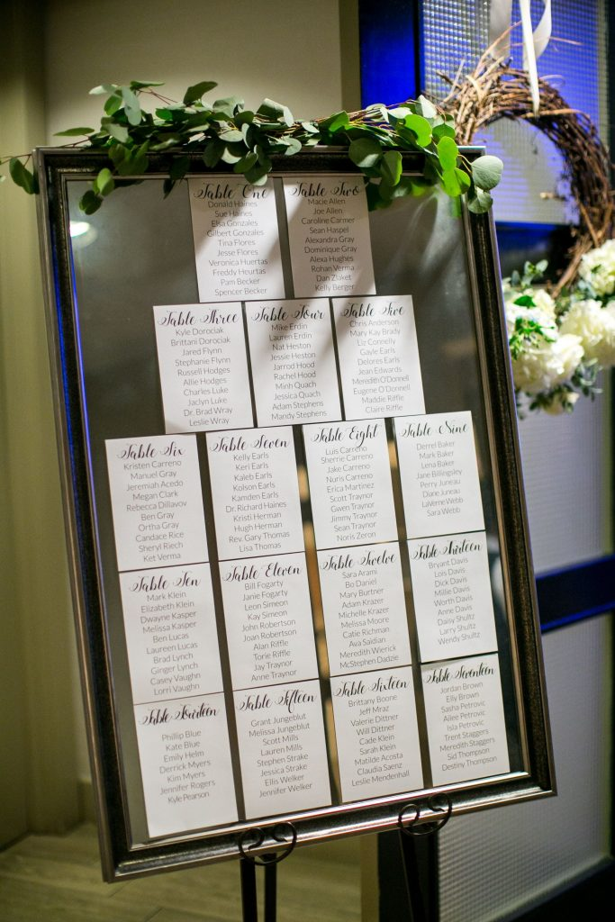 wedding seating chart, DIY seating chart for wedding