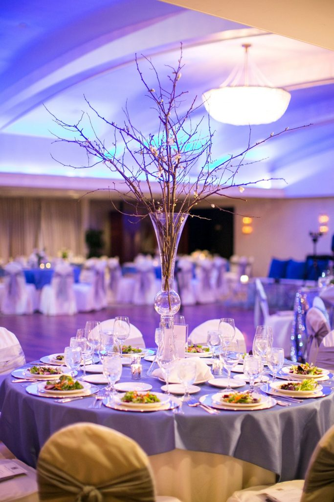 blooming branches wedding centerpiece