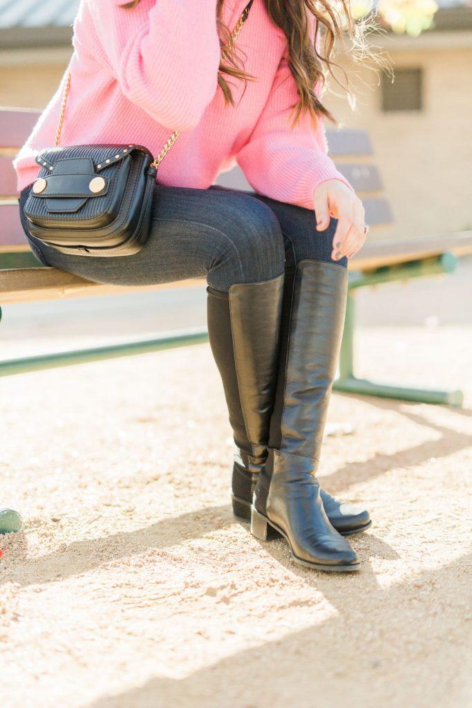 Stuart Weitzman boots, Stuart leather boots, black leather boots, must-have designer boots