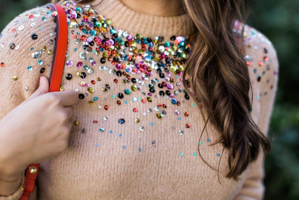 sequin sweater under $50