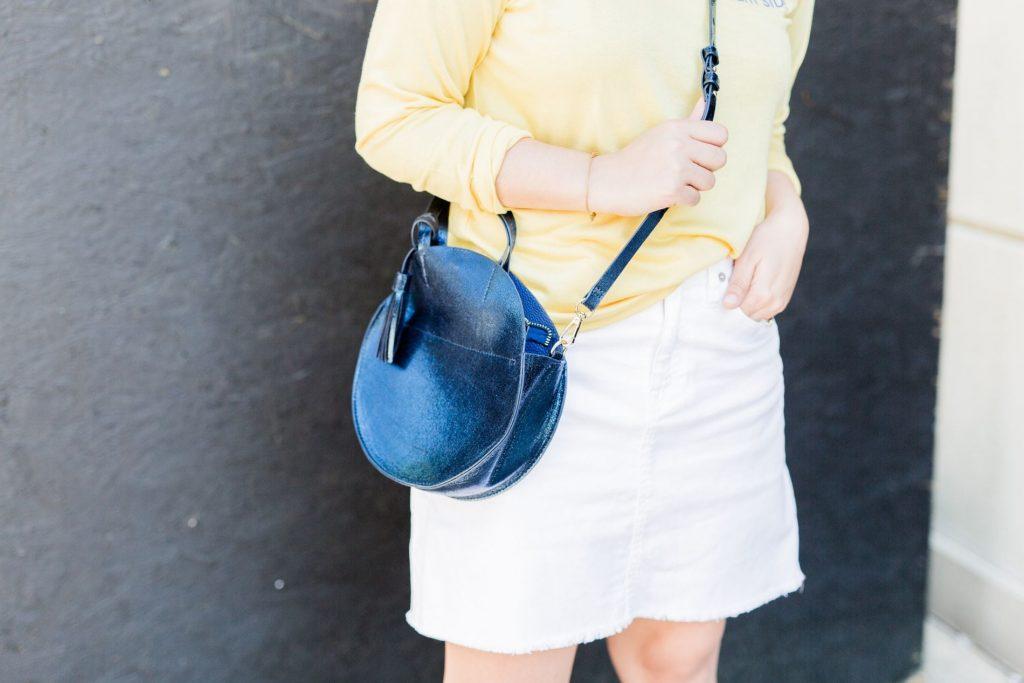 circle crossbody bag, metallic purses