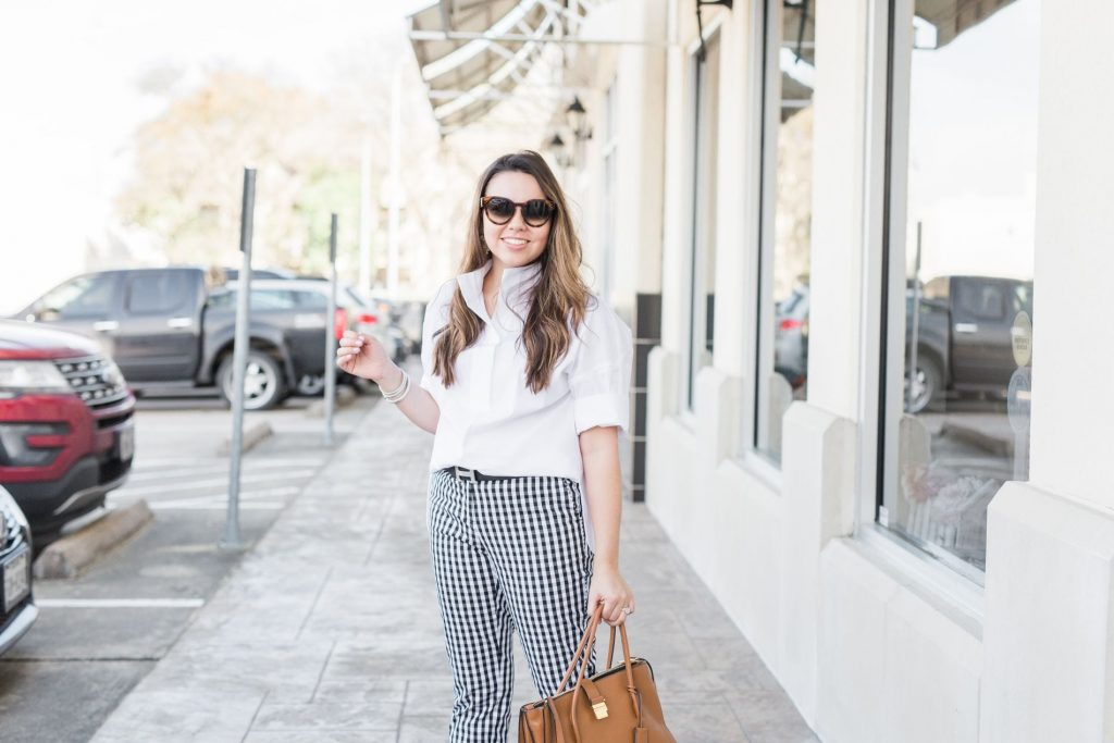 Spring gingham outfit ideas - Lafayette 148