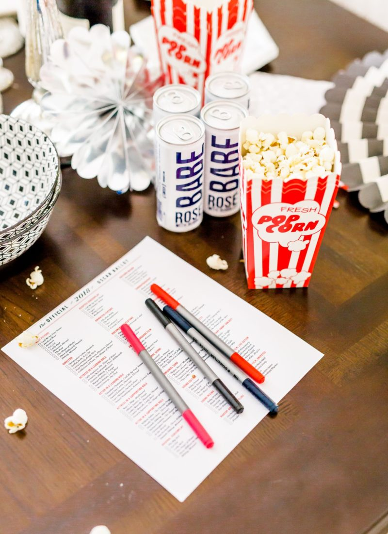 Four Oscars Viewing Party Ideas