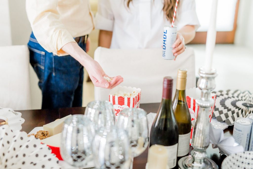 best oscar party ideas, at home Oscars viewing party