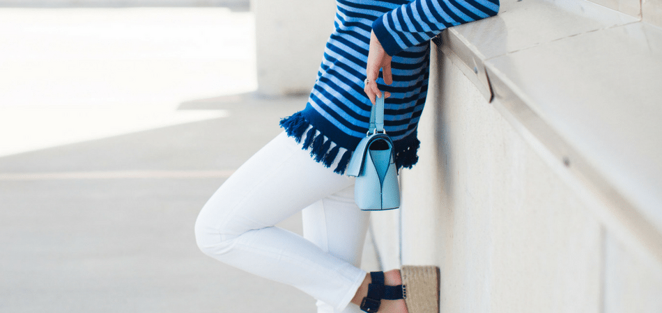 striped tassel sweater - adored by alex