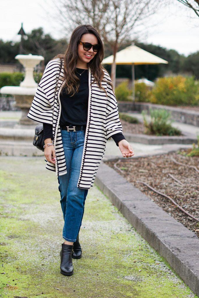 striped knit kimono - adored by alex