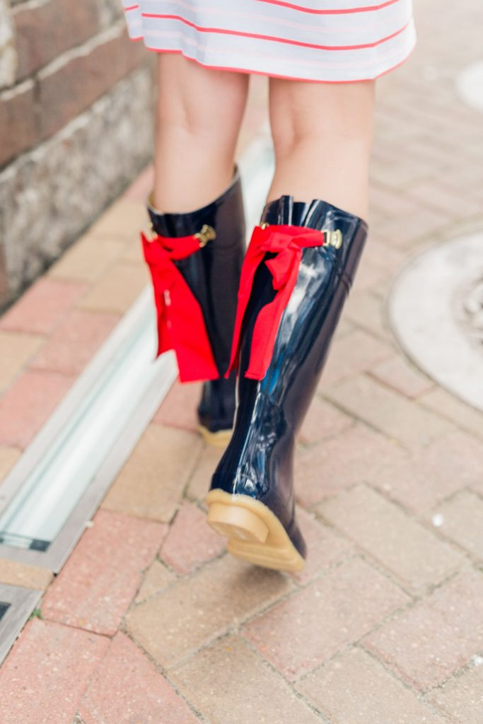 cute rain boots with bows, Joules rubber boots
