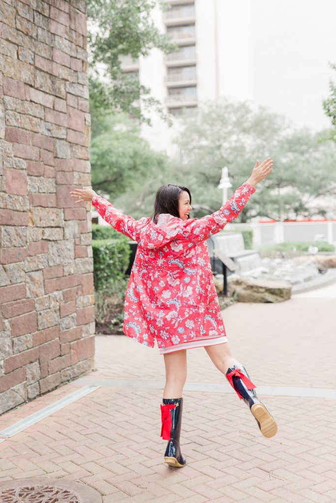how to look cute wearing rain boots