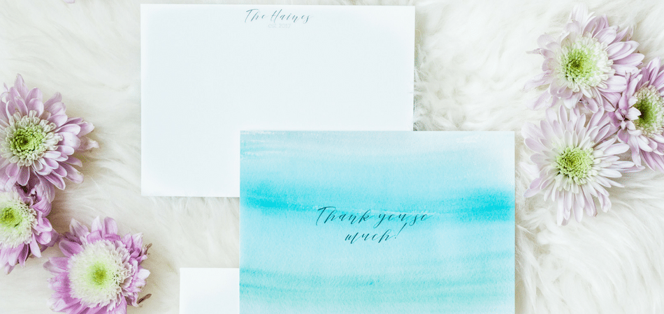 Custom Wedding Thank You Notes with Mixbook