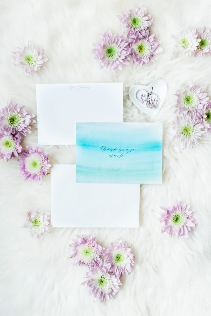 Wedding thank you notes and etiquette