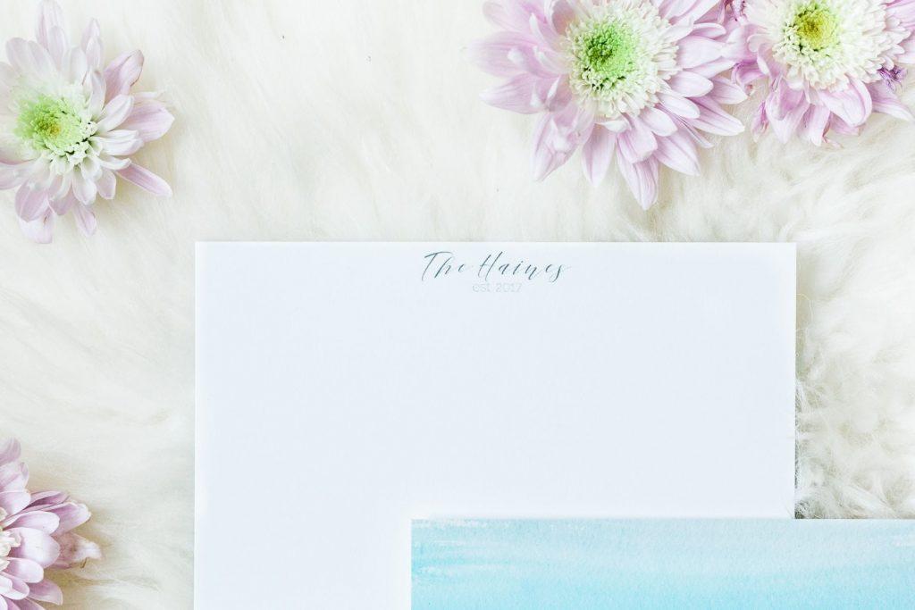 Custom wedding stationary Mixbook