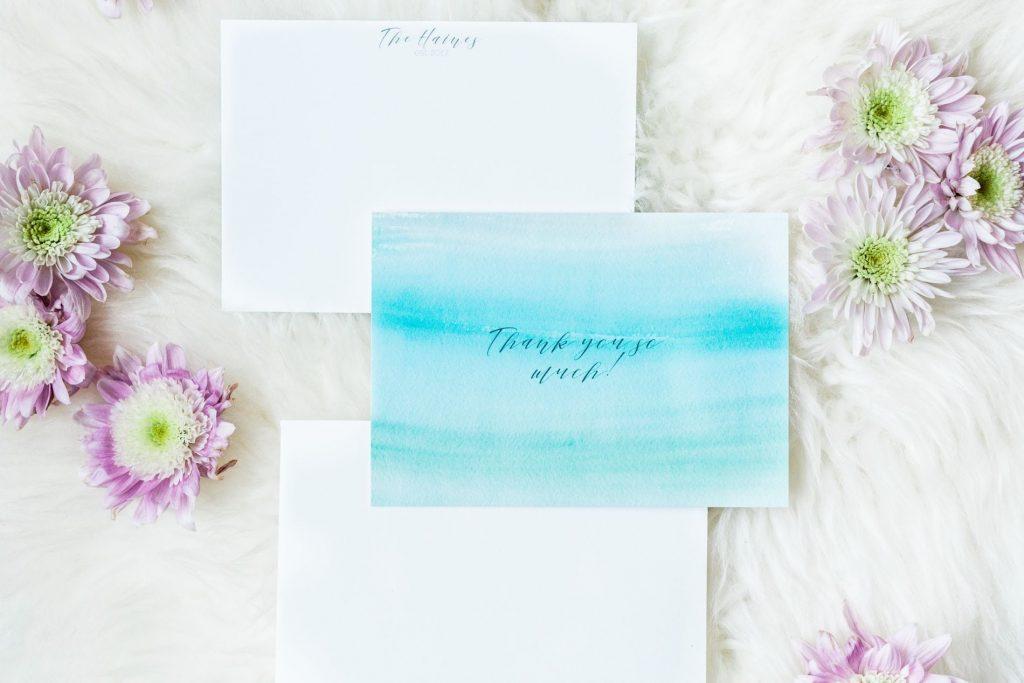 Customized wedding thank you notes