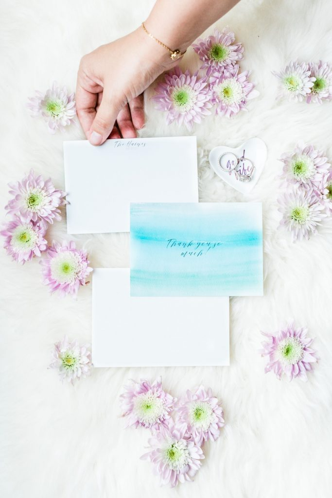 custom wedding stationary and thank yous