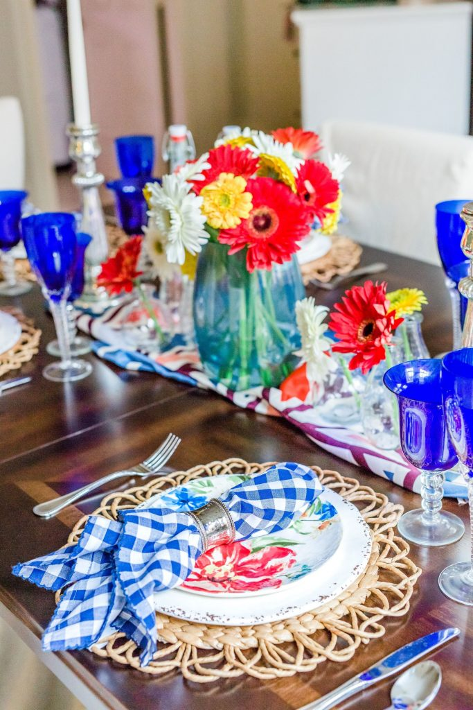 Mother's Day dining room table setting