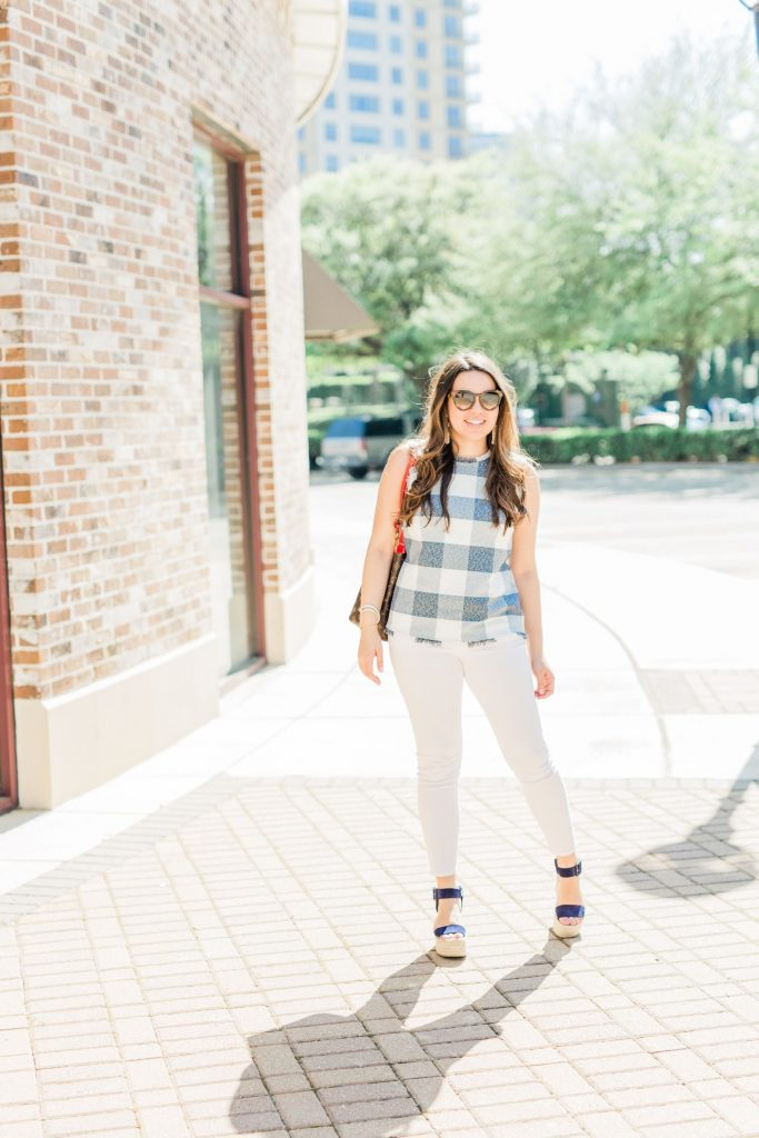 preppy spring outfit ideas, gingham