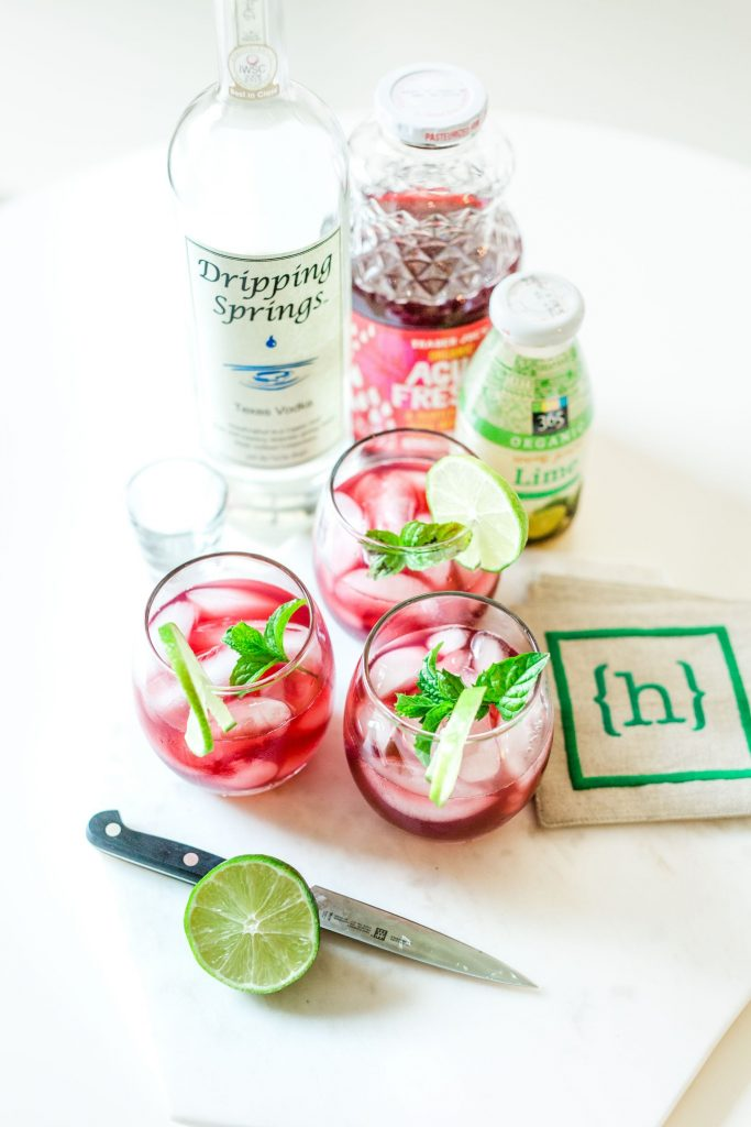 hibiscus lime cocktail - adored by alex