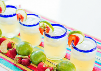 Strawberry Jalapeño Margaritas | Adored by Alex