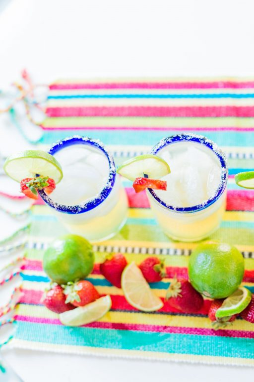#NationalMargaritaDay strawberry margarita recipe | Adored by Alex