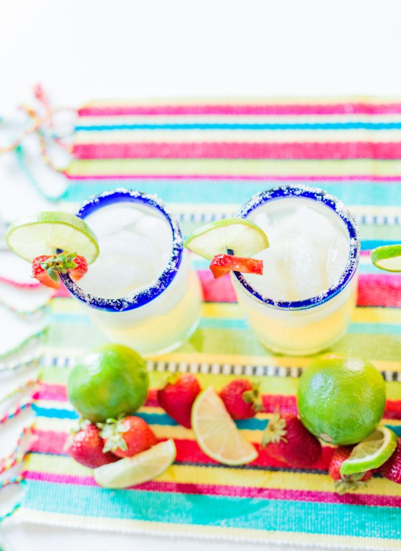 Easy to Make Strawberry Jalapeño Margaritas