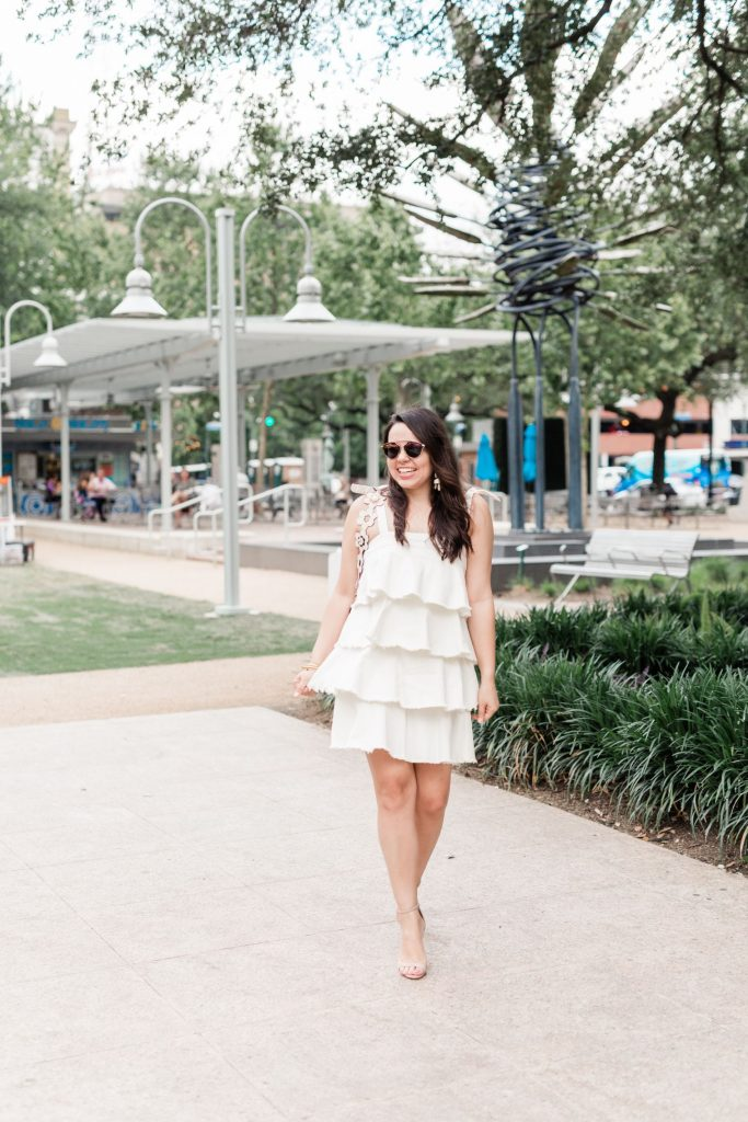 Buru white denim dress | Adored by Alex