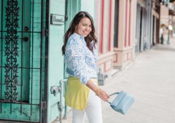 Preppy floral linen shirt + Giveaway