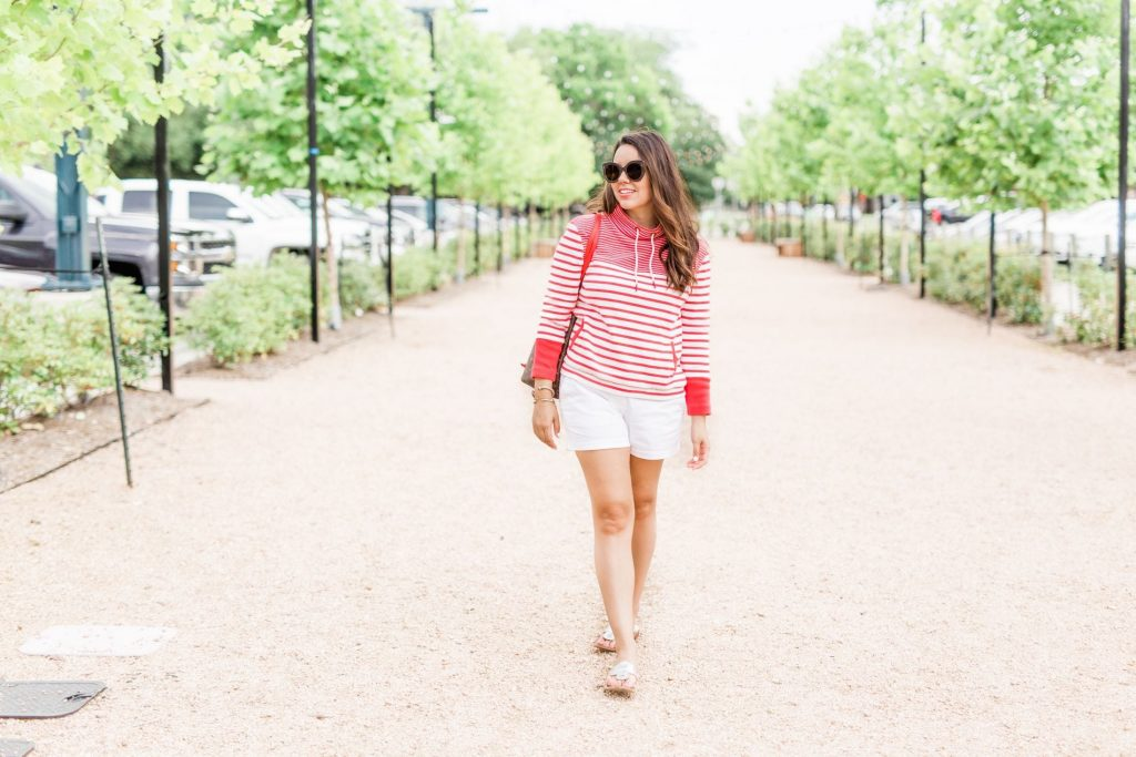Barbour striped preppy sweater | Adored by Alex