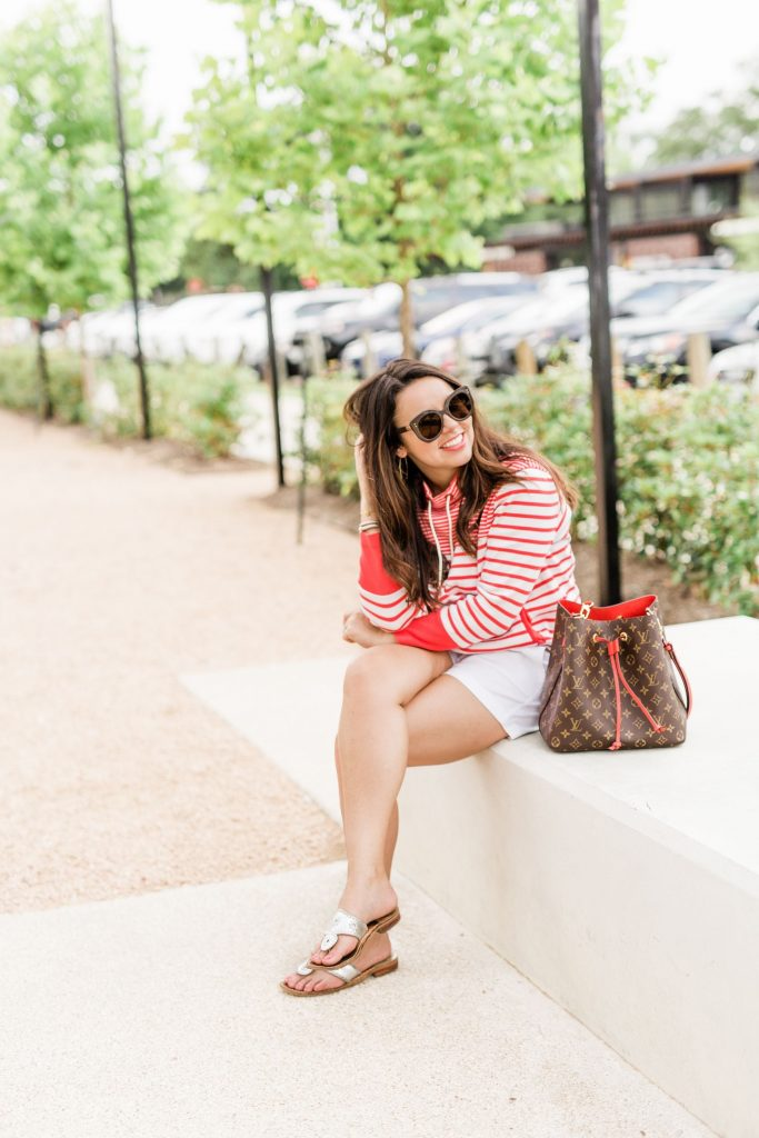 Louis Vuitton neon bucket bag, Fendi sunglasses