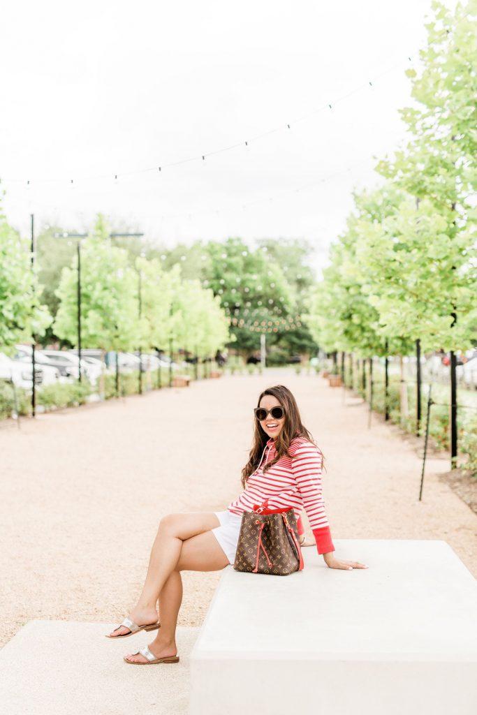 Preppy stripes outfit idea