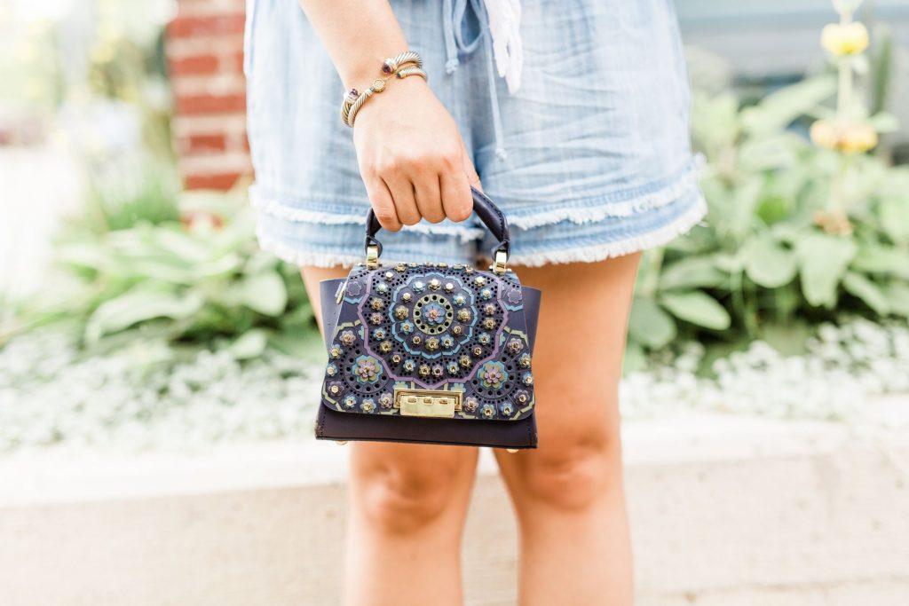 Zac Zac Posen Eartha embellished handbag