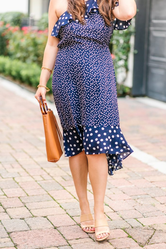 summer polka dot midi dress