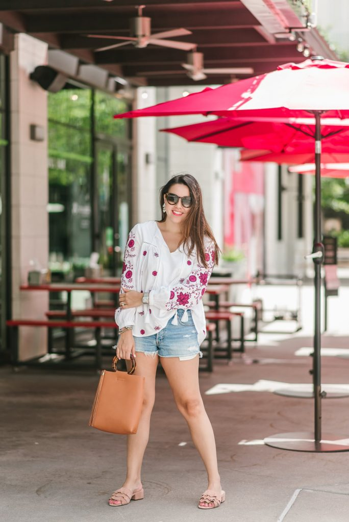 Peasant blouse summer outfit ideas