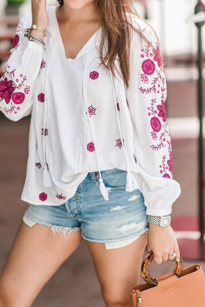 the perfect distressed denim shorts