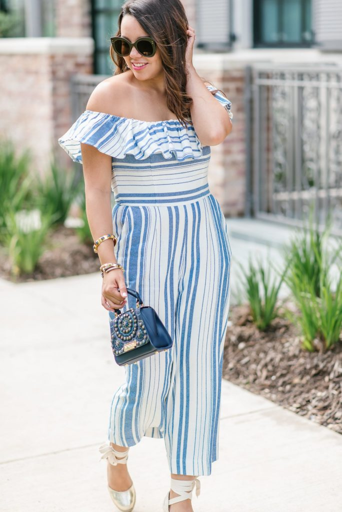 striped jumpsuit for summer