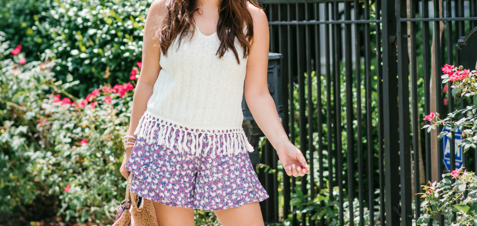flowy printed shorts | Adored by Alex
