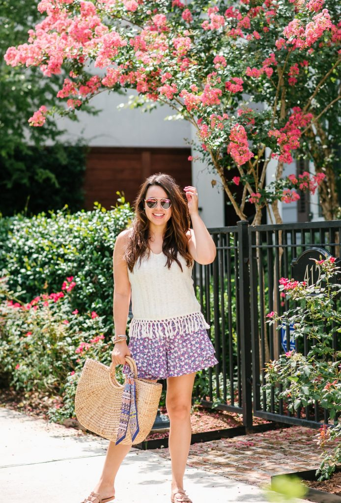 flowy printed shorts, Anthropologie summer style