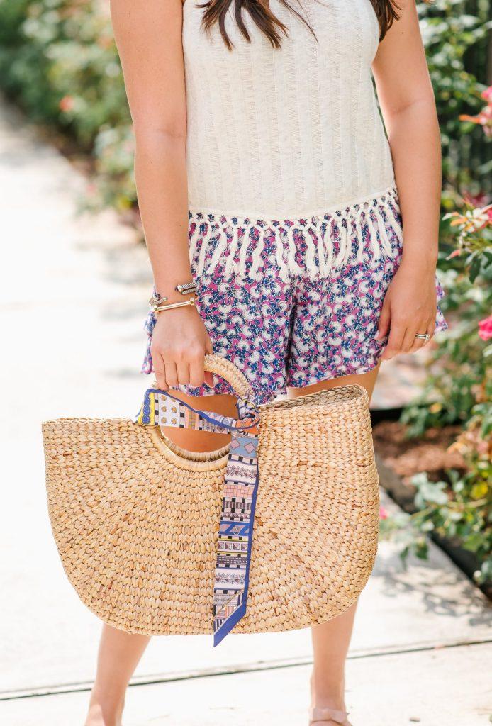Summer basket market tote