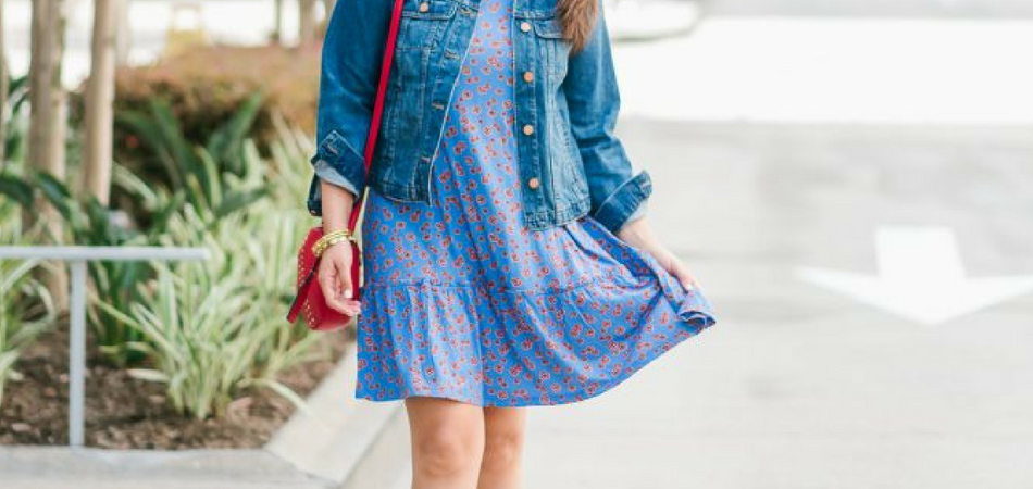 floral printed swing dress | Adored by Alex