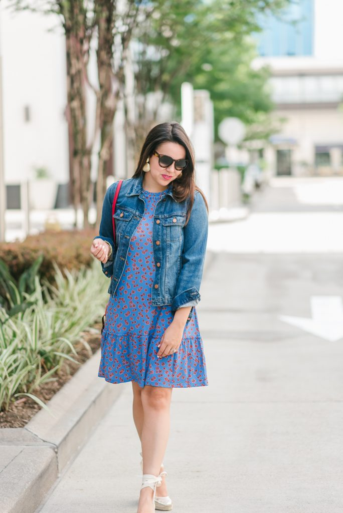 Summer swing dress and lace-up espadrilles
