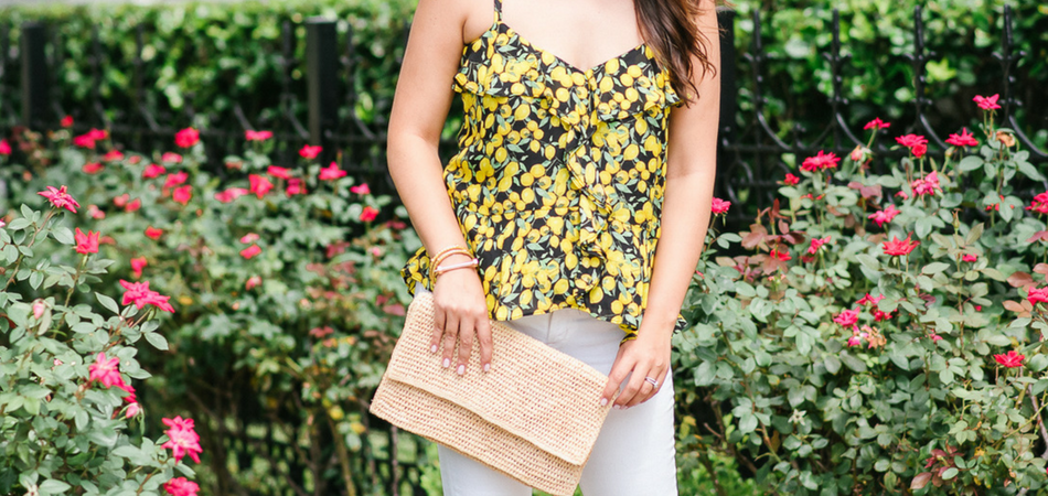ruffled lemon tank | Adored by Alex