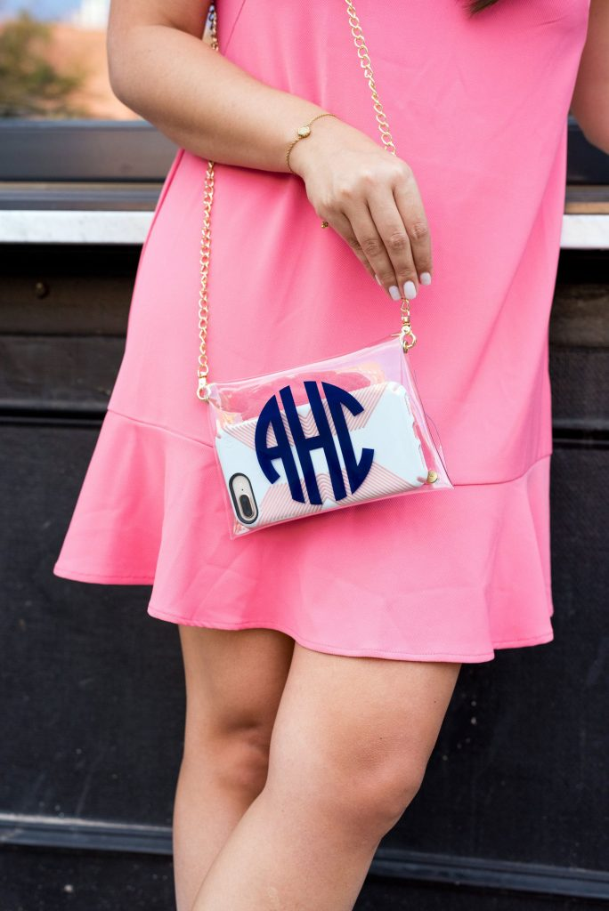 clear game day purse, stadium approved handbags | Adored by Alex