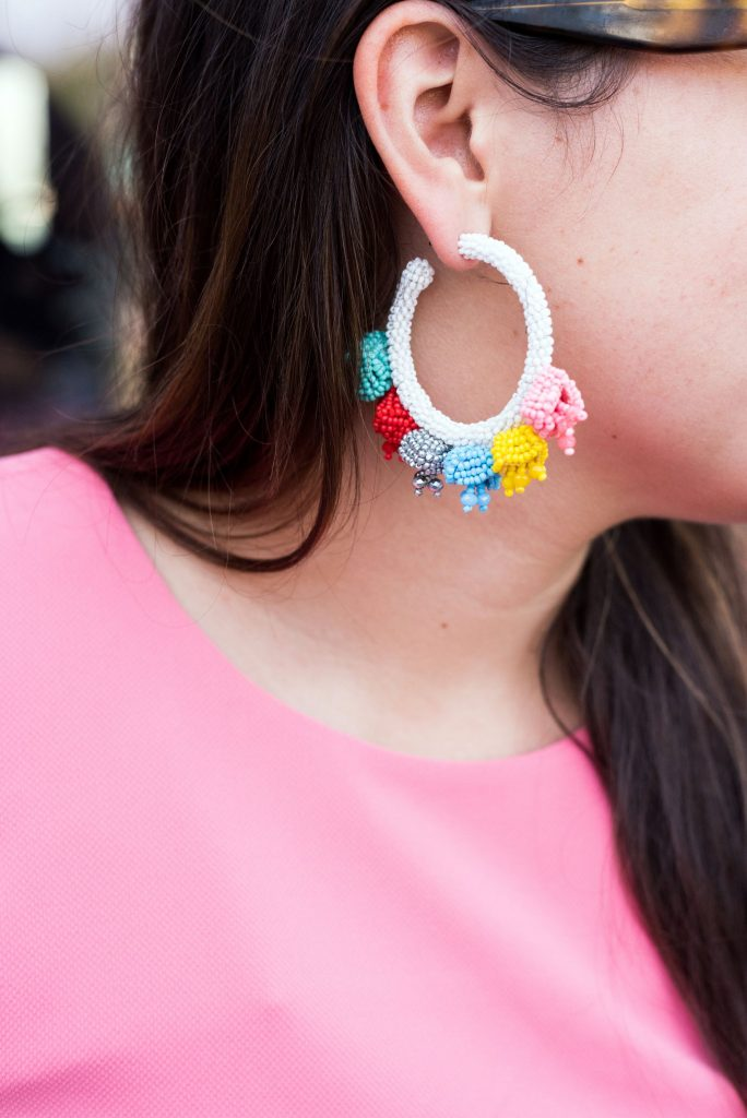 Sachin & Babi beaded hoop statement earrings | Adored by Alex