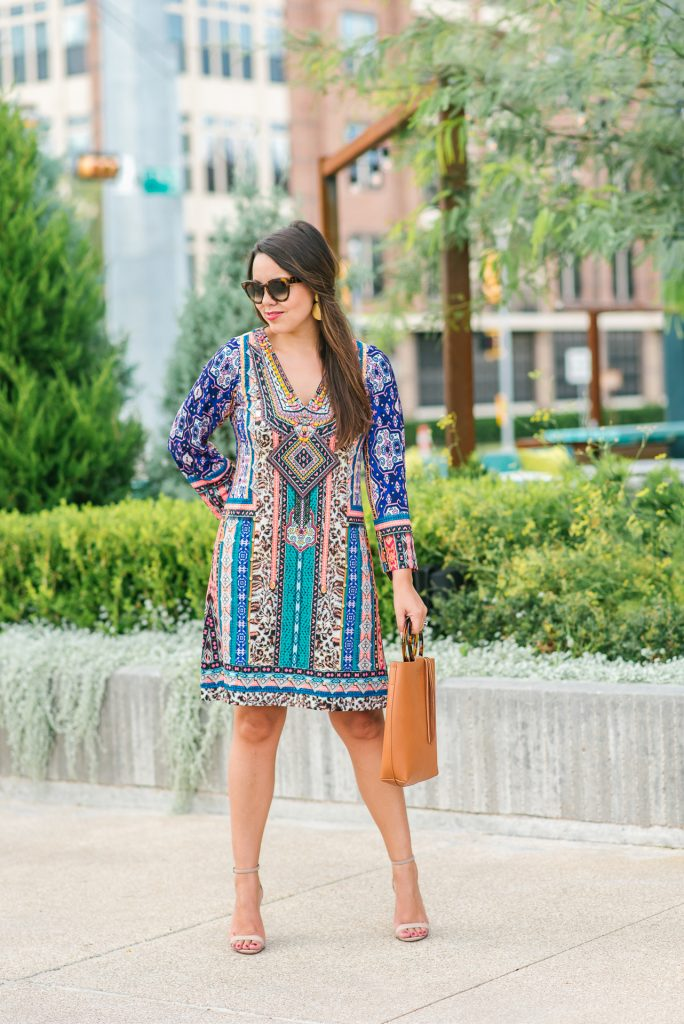 Jersey printed dress, Hale Bob fall dresses | Adored by Alex