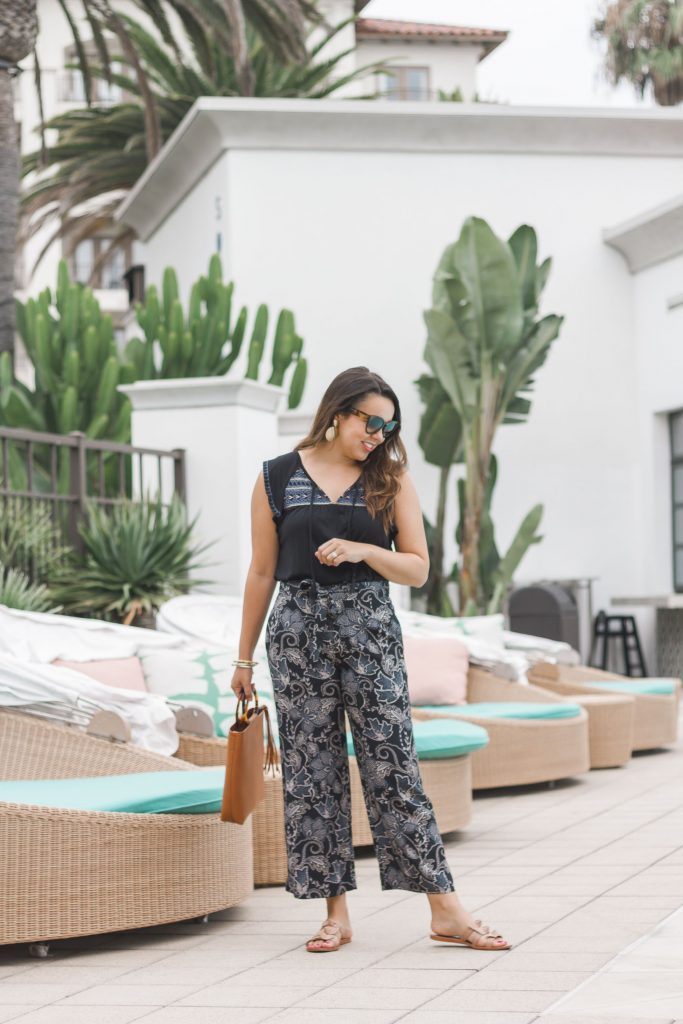 how to style printed pants | Adored by Alex