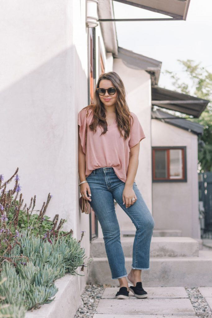 raw hem cropped jeans outfit | Adored by Alex